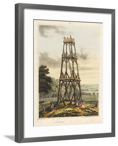Observatory, from 'An Historical Account of the Battle of Waterloo', 1817 (Coloured Aquatint)-James Rouse-Framed Art Print
