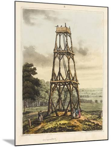 Observatory, from 'An Historical Account of the Battle of Waterloo', 1817 (Coloured Aquatint)-James Rouse-Mounted Giclee Print
