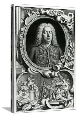 Portrait of George Frederick Handel, 1768-Jacobus Houbraken-Stretched Canvas Print
