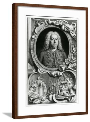 Portrait of George Frederick Handel, 1768-Jacobus Houbraken-Framed Art Print