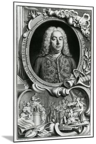 Portrait of George Frederick Handel, 1768-Jacobus Houbraken-Mounted Giclee Print