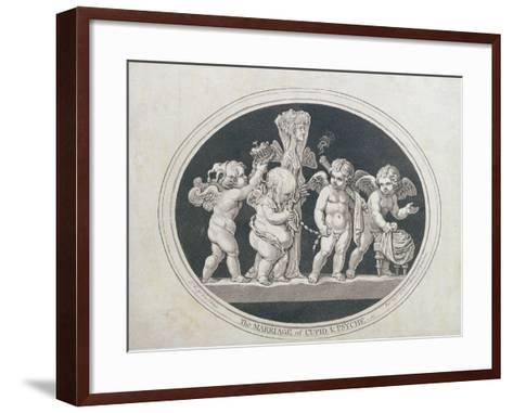 The Marriage of Cupid and Psyche, 1797-James Gillray-Framed Art Print