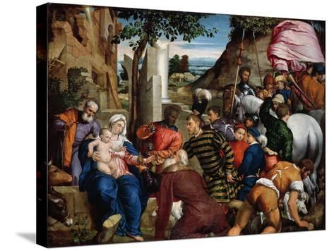 The Adoration of the Kings, Early 1540s-Jacopo Bassano-Stretched Canvas Print