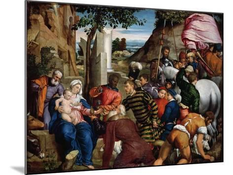 The Adoration of the Kings, Early 1540s-Jacopo Bassano-Mounted Giclee Print