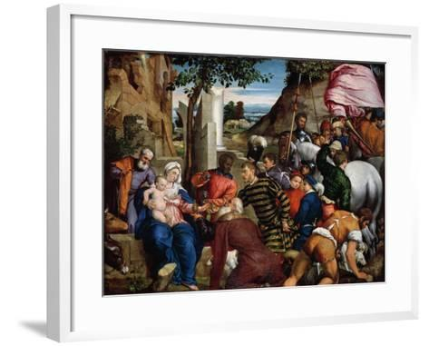 The Adoration of the Kings, Early 1540s-Jacopo Bassano-Framed Art Print