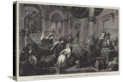 Christ Driving the Money-Changers Out of the Temple-Jacopo Bassano-Stretched Canvas Print