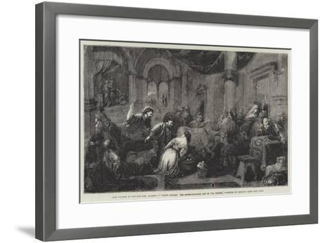Christ Driving the Money-Changers Out of the Temple-Jacopo Bassano-Framed Art Print