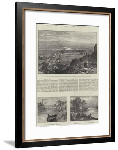 The Proposed Manchester Ship Canal-James Burrell Smith-Framed Art Print