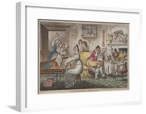 Matrimonial Harmonics, Published by Hannah Humphrey, 1805-James Gillray-Framed Art Print