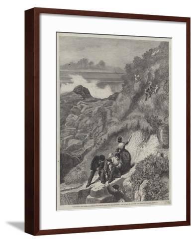 Gathering the Flocks, a Scene on the Welsh Coast-James Sant-Framed Art Print