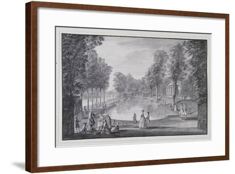 Riverside Basin, Lord Burlington's Chiswick Villa (Pen and Ink with Wash on Paper)-Jacques Rigaud-Framed Art Print