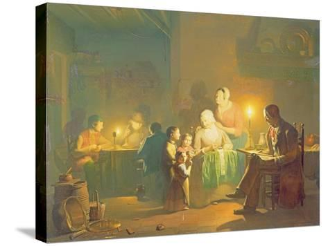 Candlelit Interior-Johannes Rosiere-Stretched Canvas Print