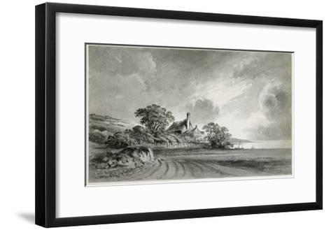 A Cottage Near the Shore of a Lake-John Baptist Malchair-Framed Art Print