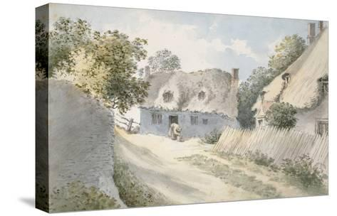 Cottages in a Village Street-John Baptist Malchair-Stretched Canvas Print