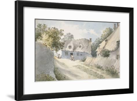 Cottages in a Village Street-John Baptist Malchair-Framed Art Print