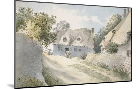 Cottages in a Village Street-John Baptist Malchair-Mounted Giclee Print