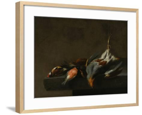 Still Life of Dead Birds, C.1660-Jan Vonck-Framed Art Print