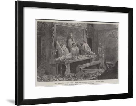 With the Allied Forces in China, a Ruined Joss-House and its Guardian, a Starving Priest-Johann Nepomuk Schonberg-Framed Art Print