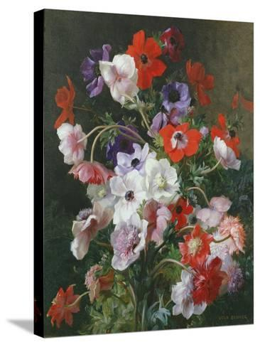 Still Life of Flowers-Jean Benner-Stretched Canvas Print