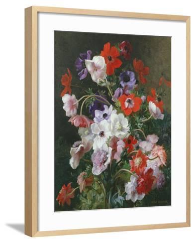 Still Life of Flowers-Jean Benner-Framed Art Print