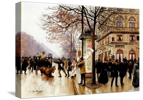 The Cab Accident-Jean Beraud-Stretched Canvas Print