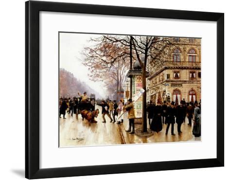The Cab Accident-Jean Beraud-Framed Art Print