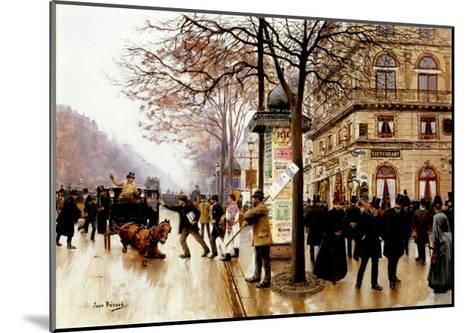 The Cab Accident-Jean Beraud-Mounted Giclee Print