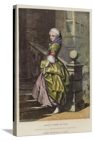 Beauties of England and Wales, Haddon Hall, Derbyshire-John Absolon-Stretched Canvas Print