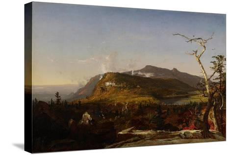 Catskill Mountain House, 1855-Jasper Francis Cropsey-Stretched Canvas Print