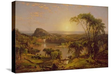 Summer, Lake Ontario, 1857-Jasper Francis Cropsey-Stretched Canvas Print