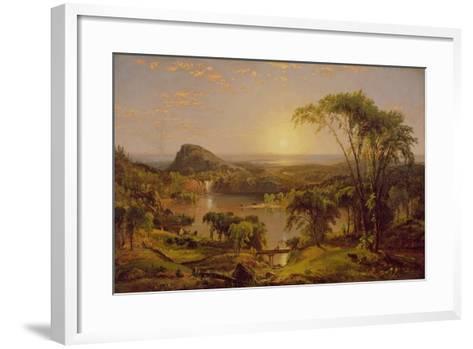 Summer, Lake Ontario, 1857-Jasper Francis Cropsey-Framed Art Print