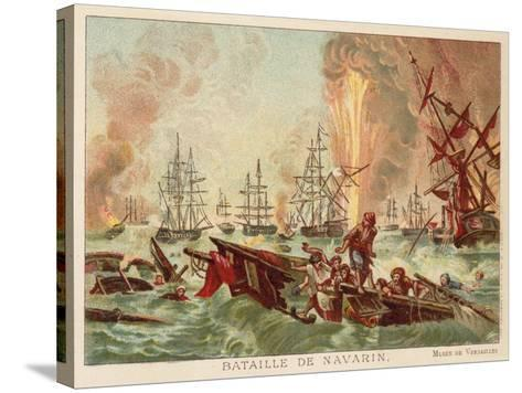 Battle of Navarino, 1827-Jean Charles Langlois-Stretched Canvas Print