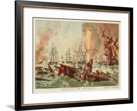 Battle of Navarino, 1827-Jean Charles Langlois-Framed Art Print