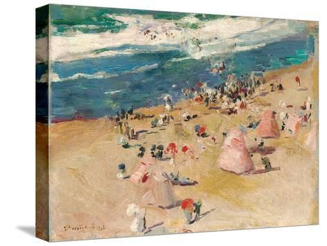 Beach at Biarritz, 1906-Joaquin Sorolla y Bastida-Stretched Canvas Print
