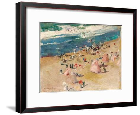 Beach at Biarritz, 1906-Joaquin Sorolla y Bastida-Framed Art Print