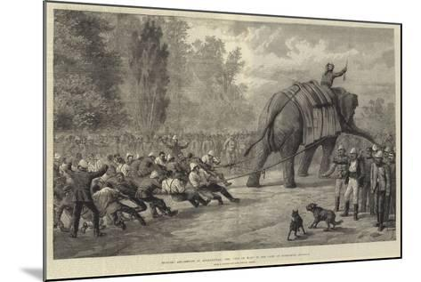 Military Amusements in Afghanistan, the Tug of War in the Camp at Gundamuk-Johann Nepomuk Schonberg-Mounted Giclee Print