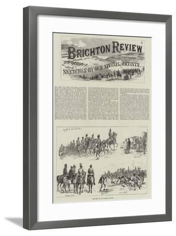 Sketches at the Brighton Review-Johann Nepomuk Schonberg-Framed Art Print