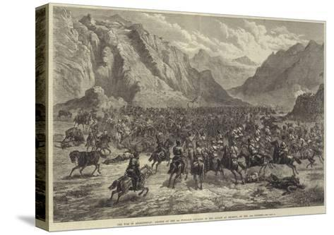 The War in Afghanistan, Charge of the 2nd Punjaub Cavalry in the Action at Shahjui, on 24 October-Johann Nepomuk Schonberg-Stretched Canvas Print