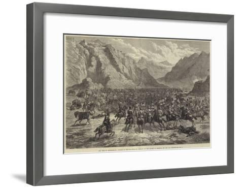 The War in Afghanistan, Charge of the 2nd Punjaub Cavalry in the Action at Shahjui, on 24 October-Johann Nepomuk Schonberg-Framed Art Print