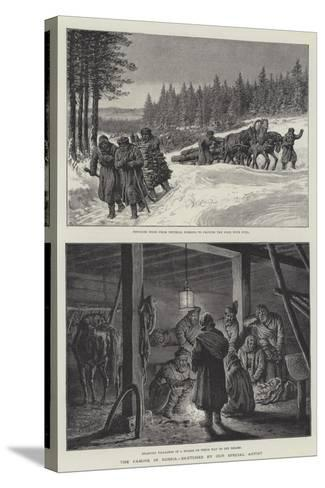 The Famine in Russia-Johann Nepomuk Schonberg-Stretched Canvas Print
