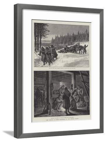 The Famine in Russia-Johann Nepomuk Schonberg-Framed Art Print