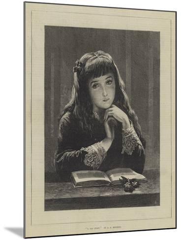 A Sad Story-John Adam P. Houston-Mounted Giclee Print