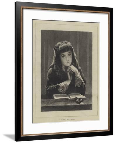 A Sad Story-John Adam P. Houston-Framed Art Print