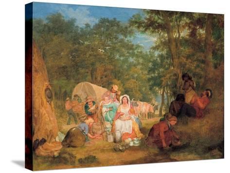 Homeward Bound: Dinner Time, C.1852-John Alexander Gilfillan-Stretched Canvas Print