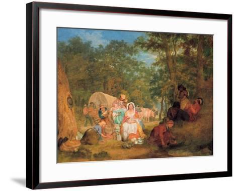 Homeward Bound: Dinner Time, C.1852-John Alexander Gilfillan-Framed Art Print