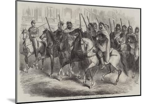 Algerian Spahis in Paris-Jean Adolphe Beauce-Mounted Giclee Print
