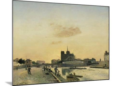View of Notre Dame, Paris, 1864-Johan-Barthold Jongkind-Mounted Giclee Print