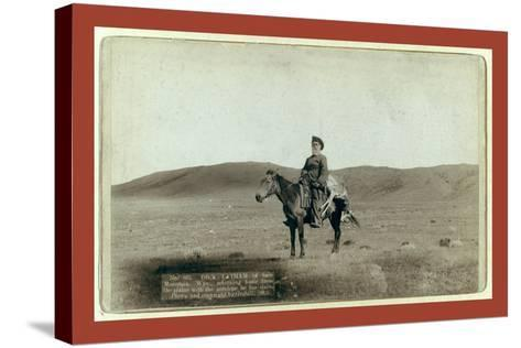 Dick Latham of Iron Mountain, Wyo., Returning Home from the Plains with the Antelope He Has Slain-John C. H. Grabill-Stretched Canvas Print