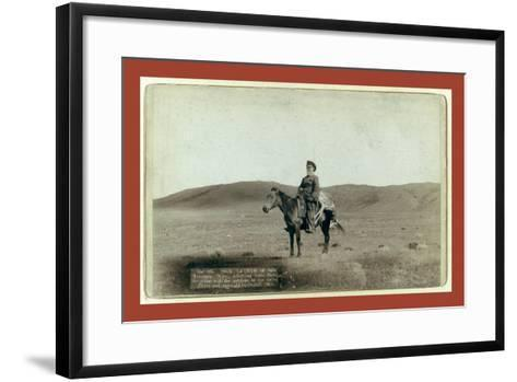 Dick Latham of Iron Mountain, Wyo., Returning Home from the Plains with the Antelope He Has Slain-John C. H. Grabill-Framed Art Print