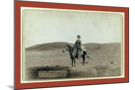 Dick Latham of Iron Mountain, Wyo., Returning Home from the Plains with the Antelope He Has Slain-John C. H. Grabill-Mounted Giclee Print